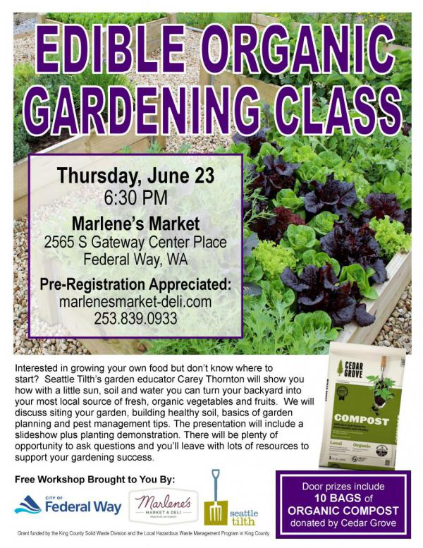 organic edible gardening workshop