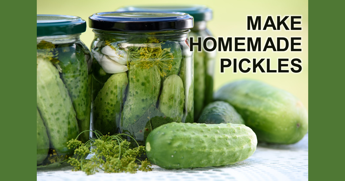 Pickles and canning jars